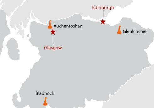 islands map, islands whisky map, islands