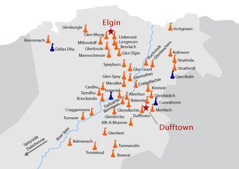 speyside distillery map